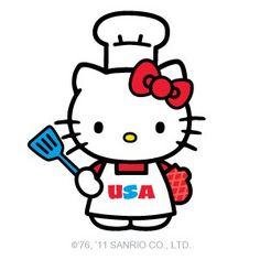 happy 4th of july hello kitty