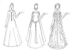 Trajes de mujer de los siglos XII, XIII y XIV