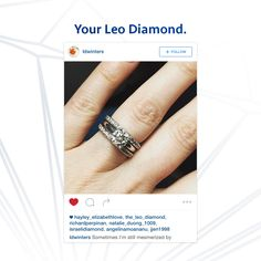@ldwinters love that you have the full set: Wedding band, engagement ring, and anniversary band #LeoDiamond #VisiblyBrighter