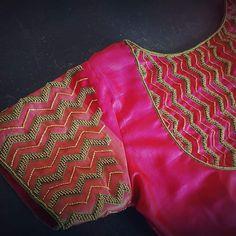 Saree Tassels Designs, Pattu Saree Blouse Designs, Blouse Designs Silk, Designer Blouse Patterns, Bridal Blouse Designs, Hand Work Blouse Design, Simple Blouse Designs, Stylish Blouse Design, Embroidery Neck Designs