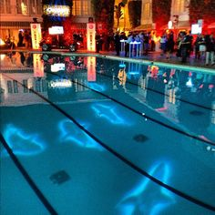 The 25th anniversary party for Discovery's Shark Week in August projected moving sharks onto the Beverly Hilton pool.