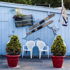 Maritime bric-a-brac decorates the inside and outside of Atlantic Seafood Restaurant and Fish Market in Center Moriches, New York. (Photo: Heather Walsh for The New York Times)