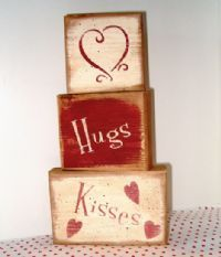 "Wooden Valentine Blessings ideas~""Hattie's Vintage Crafts""~"