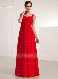 Abendkleider - $109.99 - Empire-Linie Herzausschnitt Bodenlang Chiffon Abendkleid mit Rüschen (017021123) http://jjshouse.com/de/Empire-Linie-Herzausschnitt-Bodenlang-Chiffon-Abendkleid-Mit-Ruschen-017021123-g21123