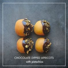 Chocolate Dipped Apricots with Pistachios // shutterbean