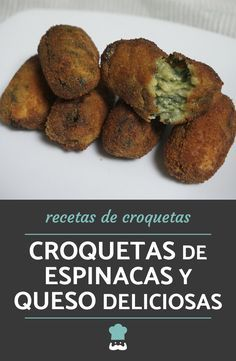 Spinach and Cheese Croquettes Recipe - Learn how to prepare delicious spinach and cheese croquettes with this simple recipe! Amazing Vegetarian Recipes, Vegetable Recipes, Mexican Food Recipes, Healthy Recipes, Cheese Croquettes Recipe, Salada Light, Easy Cooking, Cooking Recipes, Food Hacks
