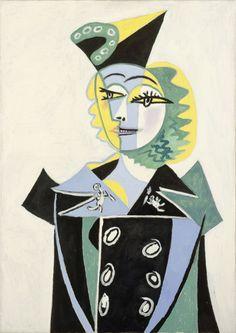 "Pablo Picasso, ""Portrait de Nusch Eluard"" © RMN-Grand Palais (musée Picasso de…"