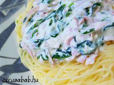 Medvehagymás-sonkás-mascarpones spagetti – Ceruzabab Spaghetti, Ethnic Recipes, Food, Mascarpone, Meal, Essen, Hoods, Meals, Eten
