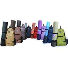 Aurorae Yoga Mat Sport Bag/Multi Purpose Crossbody Sling Backpack. Great for Yoga, Hiking, Biking, Travel,Gym,School/Office (Ebony)