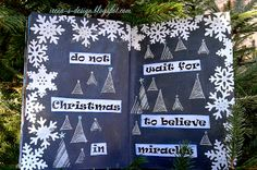 Irena's art, Christmas art journal page