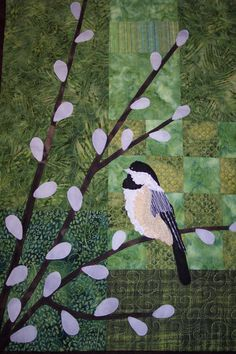 Chickadee quilt from etsy