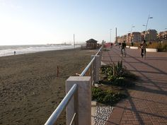 Ostia di Lido, Italy (ancient port of Rome).. the sand is black here!loved going