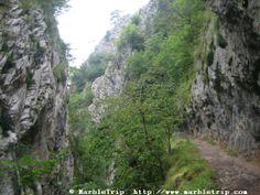 Xanas gorge hike, Peaks of Europe mountains, Asturias.