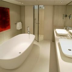 S/Y Red Dragon - 169 ft luxury performance sailboat - master bathroom