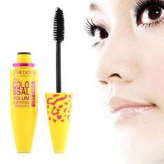 Maskara Mata Kuning Minyak Wanita Ekstensi Bulu Mata Tahan Air Makeup Hadiah gratis Hitam Kosmetik Leopard Mode Alat Panjang