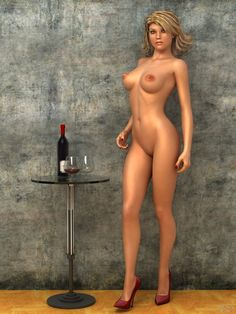 "She's waiting for me to have a drink. - Art by Peter Leong. - Board ""Art-Peter Leong"". -"