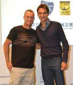 Lleyton Hewitt and Roger Federer, two of my favorites. I love the obvious differences in culture too. Roger= Swiss, put together, classy. Lleyton= Aussie, here to PARTY.