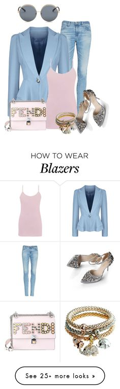 """Untitled #1720"" by lechara on Polyvore featuring AG Adriano Goldschmied, WithChic, BKE, Fendi and N°21"