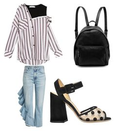 A fashion look from July 2017 featuring striped off-shoulder tops, print jeans and colorful sandals. Browse and shop related looks. Citizens Of Humanity, Charlotte Olympia, Stella Mccartney, Shoe Bag, Polyvore, Stuff To Buy, Shopping, Shoes, Collection