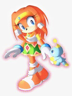Tikal The Echidna by Cinnamin-Bun - Oh my gosh! This is awesome! She looks so realistic! (You know, for Sonic)