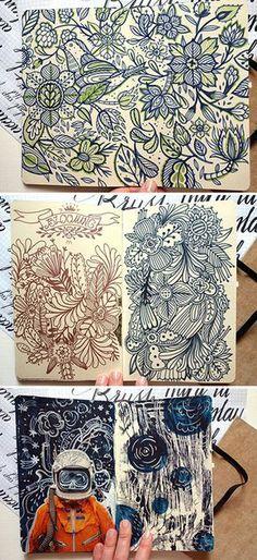 Sketchbook pages - part 3 on Behance