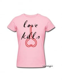 Love kills funny printed tshirtsDesign / Search hints: tshirts,tshirts for womens,nice tshirts for womens,funny tshirts for womens,printed tshirts for womens,cool tshirts for womens,love tshirts,lovers tshirts,funny love kills tshirts buy @ www.bowgo.in