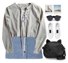 """Cutie Pie"" by porcelaindolls ❤ liked on Polyvore featuring Topshop, Loungefly, Pierre Hardy, Polaroid and Le Specs"
