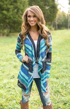 The Pink Lily Boutique - Sea of Colors Cardigan , $32.00 (http://thepinklilyboutique.com/sea-of-colors-cardigan/)