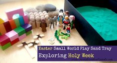 Sun Hats & Wellie Boots: Easter Small World Play - Sand Tray exploring Holy Week
