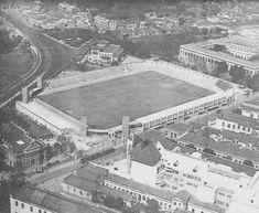 Estádio Severiano Ribeiro, na Rua Venceslau Brás. Construído em 1912, foi inaugurado no ano seguinte com a partida Botafogo x Flamengo pelo Campeonato Carioca de Futebol.