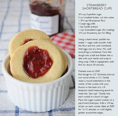 strawberry shortbread cups