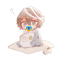 Bebe Anime, Anime Fr, Cute Anime Chibi, Anime Kawaii, Stray Dogs Anime, Bongou Stray Dogs, Baby Drawing, Anime Child, Dazai Osamu