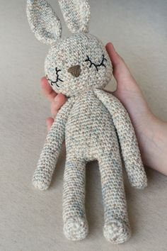 Mesmerizing Crochet an Amigurumi Rabbit Ideas. Lovely Crochet an Amigurumi Rabbit Ideas. Animal Knitting Patterns, Crochet Patterns Amigurumi, Amigurumi Doll, Crochet Dolls, Crochet Bunny, Crochet Animals, Crochet Cross, Crochet Yarn, Knitting Projects