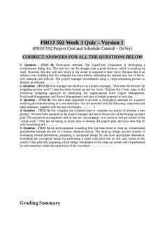 PROJ 592 Week 3 Quiz - Version 1