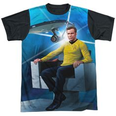 "Checkout our #LicensedGear products FREE SHIPPING + 10% OFF Coupon Code ""Official"" Star Trek/kirk's Ship-s/s Adult T- Shirt - Star Trek/kirk's Ship-s/s Adult T- Shirt - Price: $24.99. Buy now at https://officiallylicensedgear.com/star-trek-kirk-s-ship-s-adult-shirt-licensed"