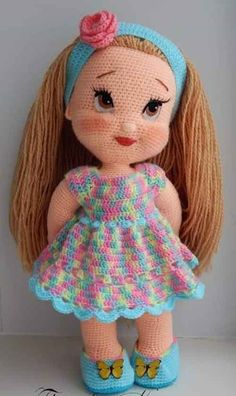 Lovely Amigurumi Doll, Animal, Plant, Cake and Ornaments Pattern Ideas. Page 100 - Amigurumi Animal Cake cartoon doll Ideas lovely Ornaments page PATTERN Plant - DiyForYou Crochet Doll Pattern, Crochet Patterns Amigurumi, Amigurumi Doll, Amigurumi Tutorial, Knitted Dolls, Crochet Dolls, Crochet Baby, Cute Dolls, Stuffed Toys Patterns