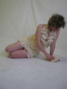 Partial knitting dress