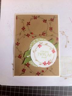 """Hochzeitkarte mit dem Set """"Perfekter Tag"""" in den Farben Kandiszucker/ Glutrot und Farngrün"""