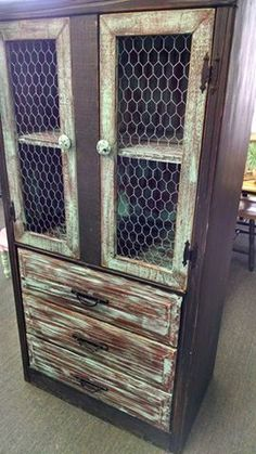 Cathy Frazure At Cathyu0027s Bargain And Consignment Shop Showed Us This TV  Cabinet She Repurposed In