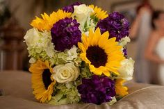 minus the white flowers.  just sunflowers and purple stock.