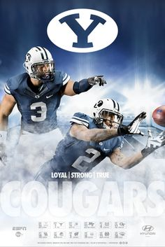 BYU football poster    #LDSproducts #MormonProducts #CTR