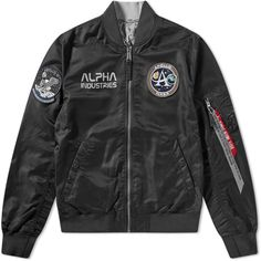 Alpha Industries Moon Landing Reversible Jacket In Black 1st Moon Landing, Alpha Industries Nasa, Nasa Patch, Apollo 11 Mission, Nasa Clothes, Motorcycle Jacket, Bomber Jacket, Cool Jackets, All Black