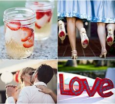 Red, White, and Blue Wedding Inspiration