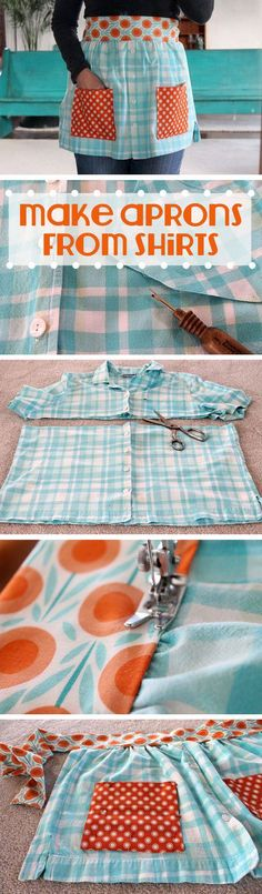 How to Make Aprons From Shirts