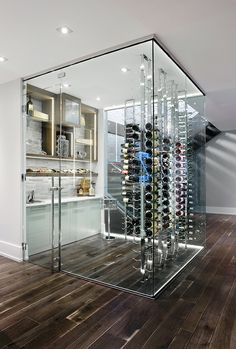 Creating an All Glass Wine Cellar or Room