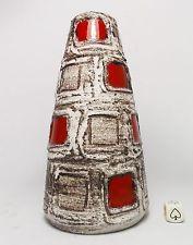 Schlossberg Capri Fat Lava Vase West German Mid Century Modern Pop Art Space Age