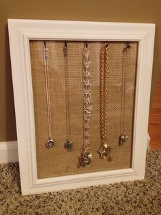 Jewelry display frame.  I use this for my Origami Owl Jewelry bars.