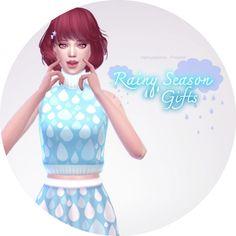 Rainy season: Crop top, Short skirts & Booties at manuea Pinny via Sims 4 Updates