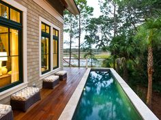 Visit HGTV.com to see the HGTV Dream Home 2013 deck, which offers both a dining area and plunge pool that face marsh views.