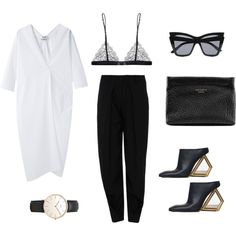 Designer Clothes, Shoes & Bags for Women Monochrome Outfit, Minimal Outfit, Minimal Fashion, Casual Chic, Casual Outfits, Fashion Outfits, Womens Fashion, Celine, Business Outfit